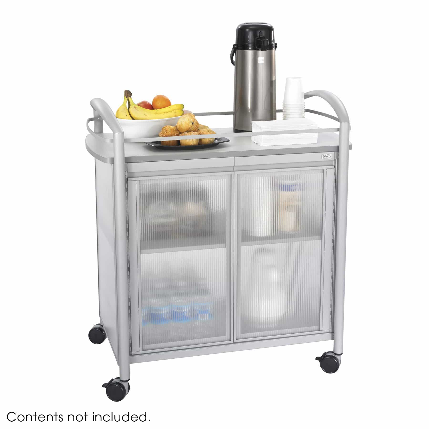 bedinhome - Hospitality 200 lbs Weight Capacity Impromptu Refreshment Cart With Steel Frame - Safco - Refreshment Cart