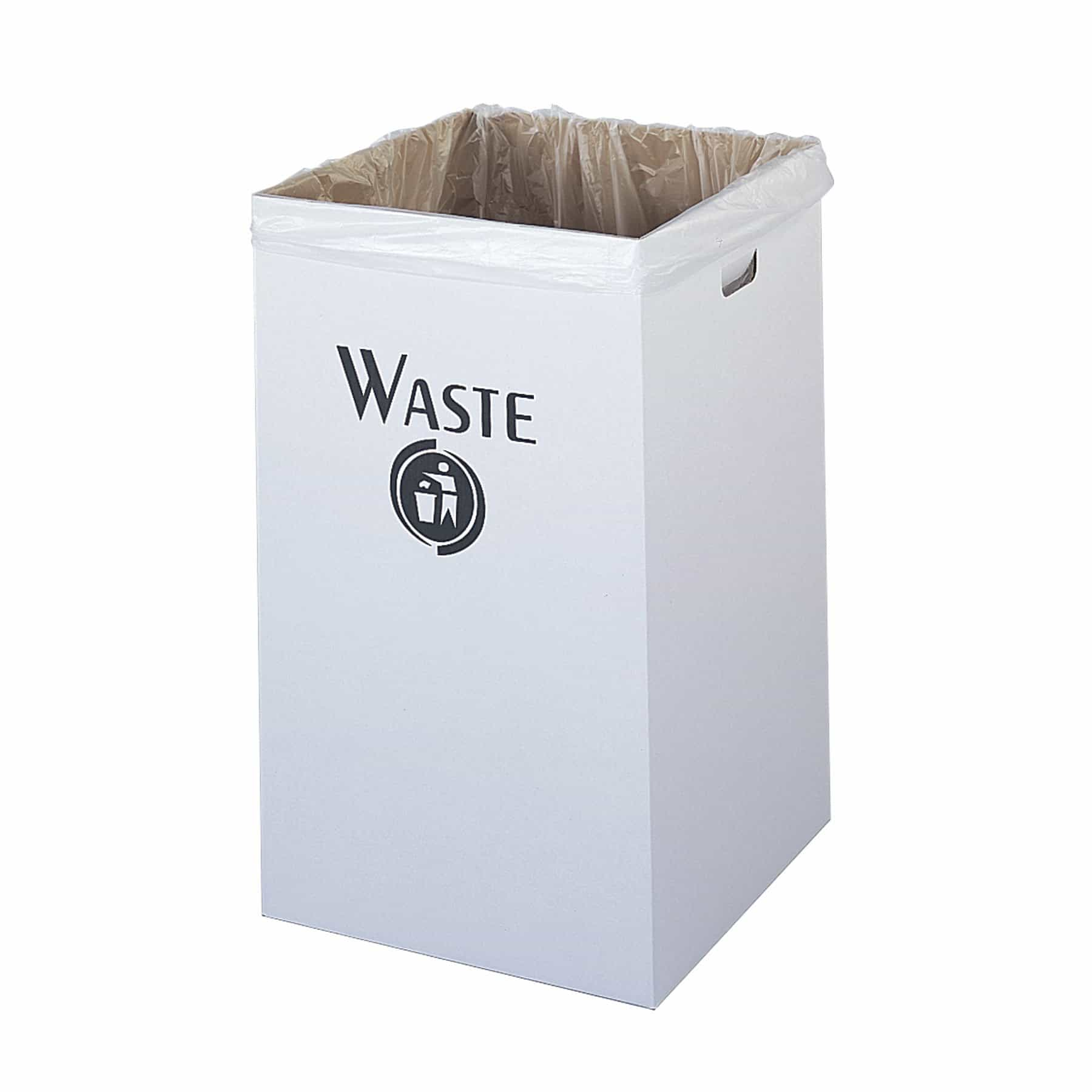 bedinhome - Economical Corrugated Fiberboard White Waste Receptacle Trash Can (Qty. 12) - Safco - Trash Can