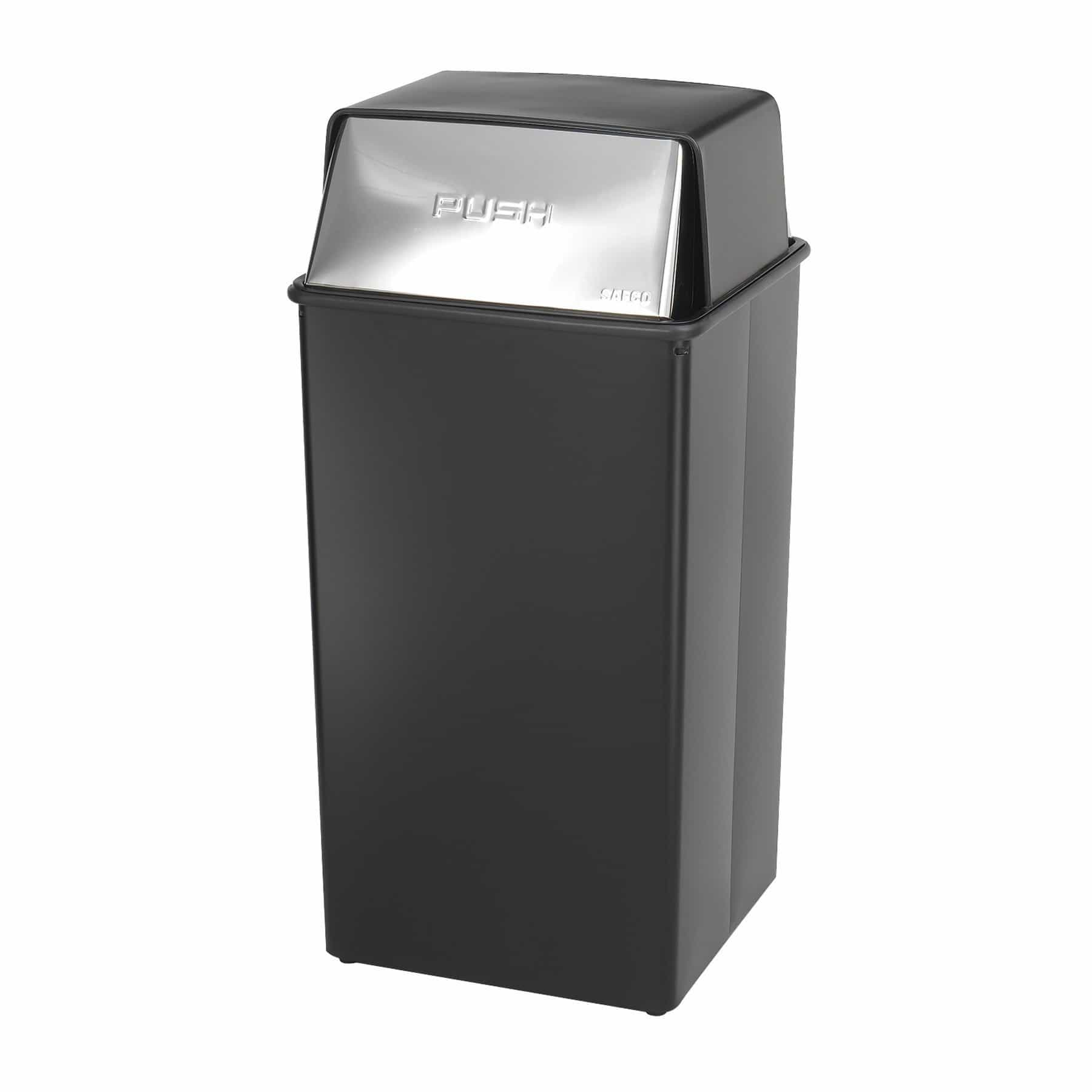 bedinhome - Reflections By Safco 36-Gallon Capacity Push Top Receptacle Trash Can - Safco - Trash Can