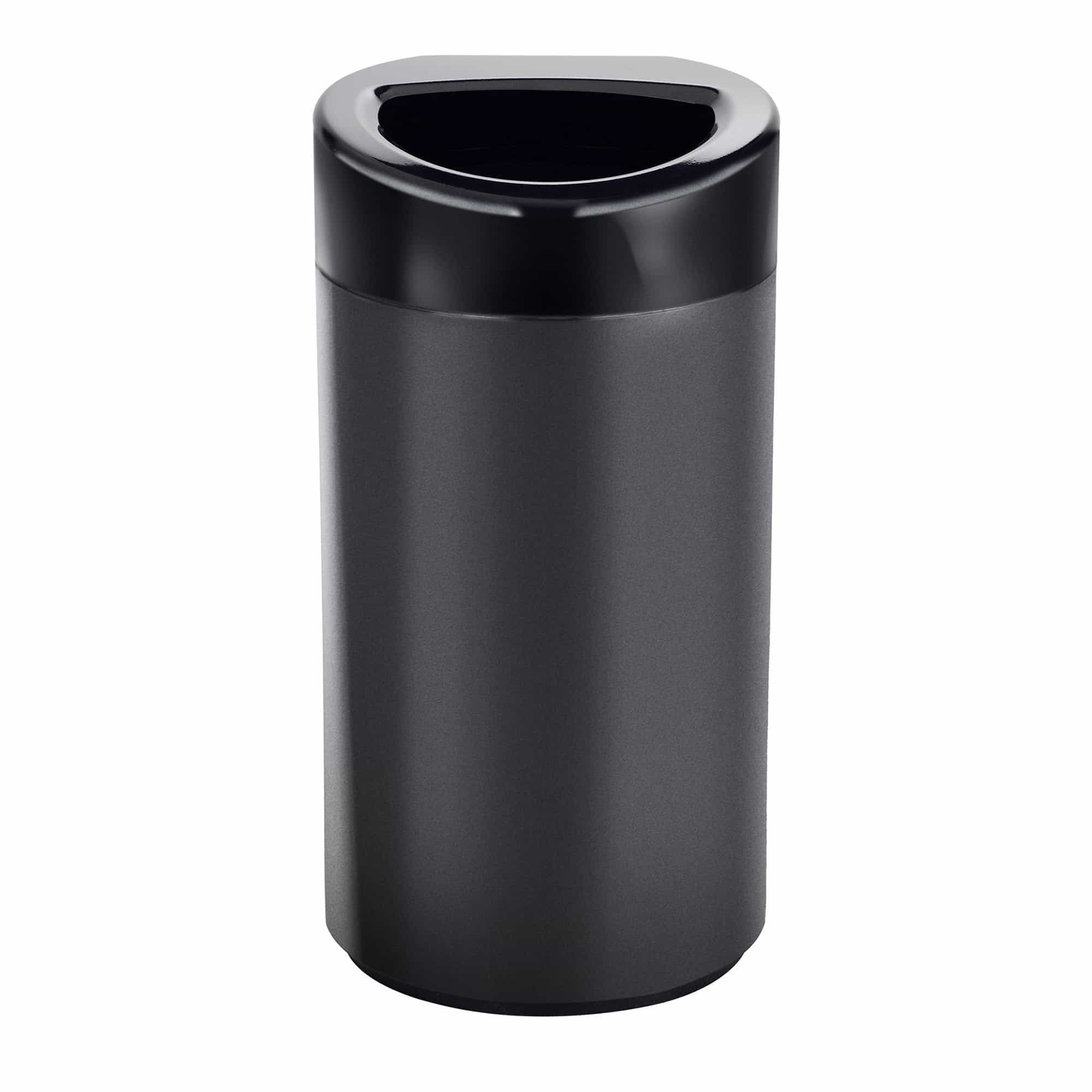 bedinhome - Indoor 14 Gallon Capacity Black Coat Durable Open Top Receptacle Trash Can - Safco - Trash Can