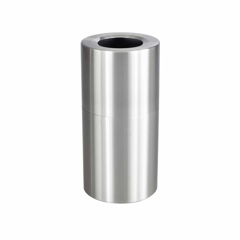 bedinhome - 9942SS Indoors Use Aluminum Designed Durable Stainless Steel 27 Gallon Capacity Single Recycling Receptacle - Safco - Recycling Receptacle