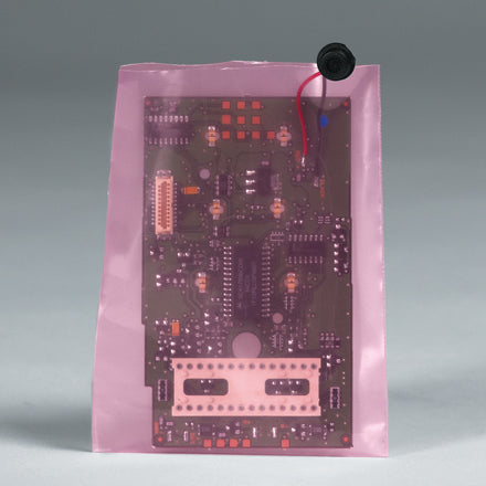 4 Mil Anti-Static Flat Pink Poly Bags