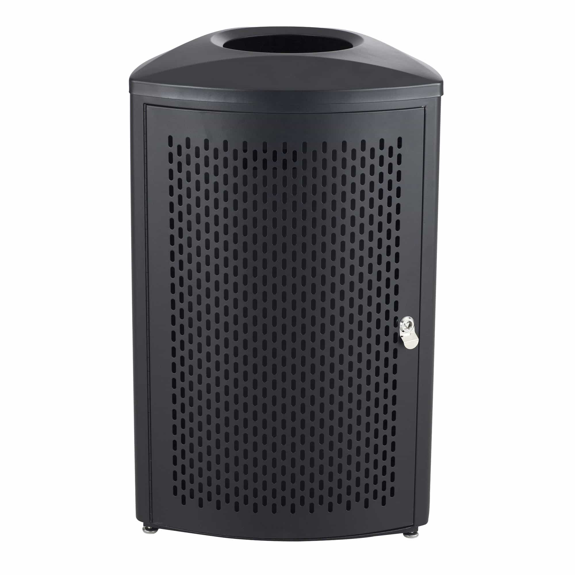 bedinhome - 9960BL Nook™ Indoor Use Triangular Design Black Durable Steel Frame 20 Gallon Capacity Waste Receptacle - Safco - Indoor Waste Receptacle