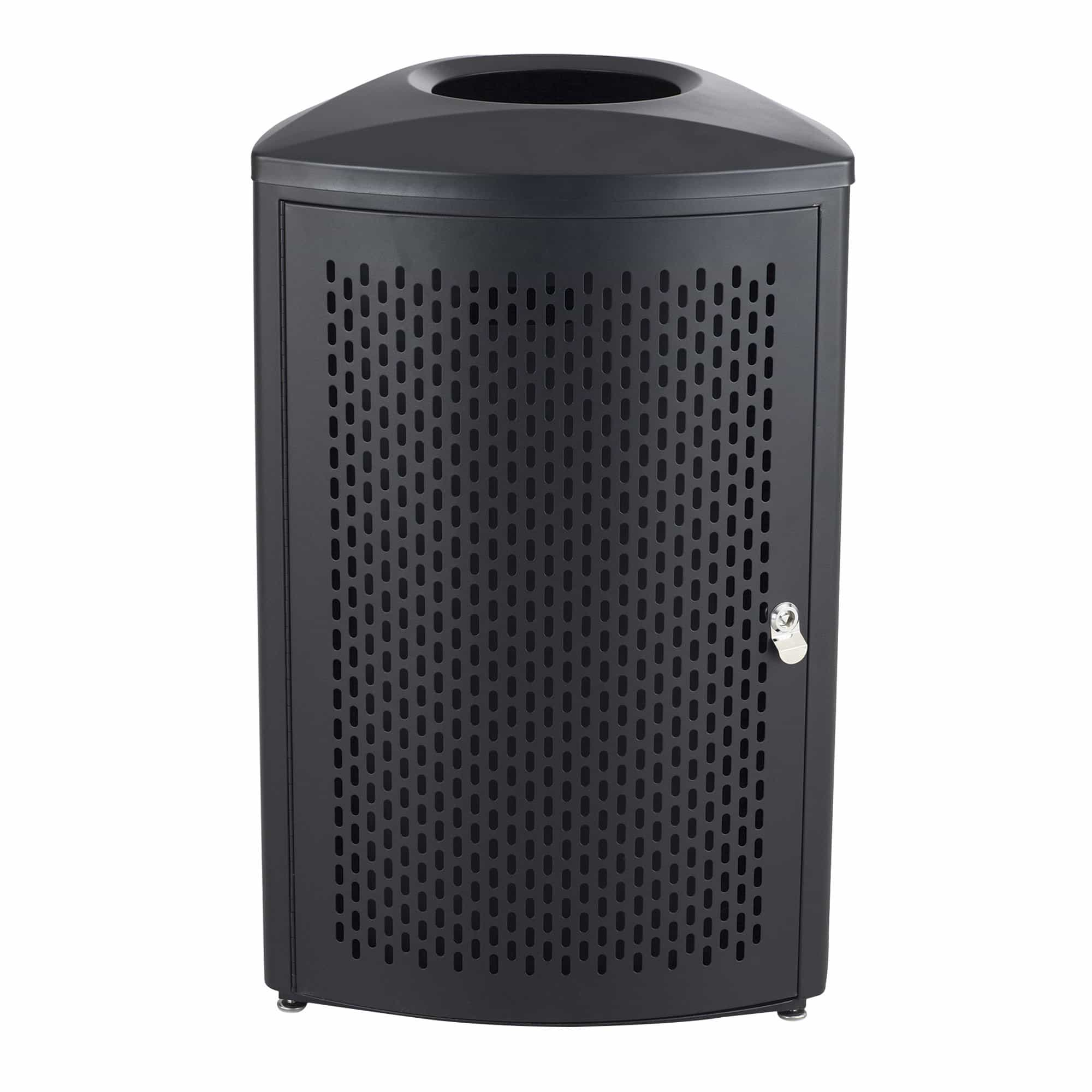 bedinhome - 9961BL Nook™ Indoor Use Triangular Design Black Durable Steel Frame 13 Gallon Capacity Waste Receptacle - Safco - Indoor Waste Receptacle