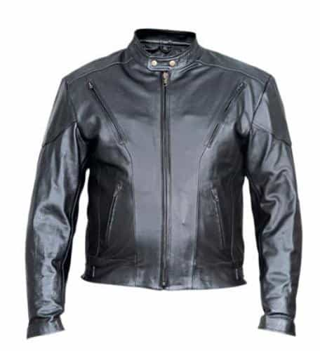 bedinhome - AL2070 Men'S Motorcycle Analine Cowhide Leather 2 front Zippered pockets full sleeve Biker Jacket With Antique Brass Hardware - All State Leather - Men's Leather Jacket
