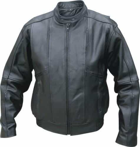 bedinhome - AL2074 Men'S Motorcycle Analine Cowhide Vented front back & sleeves Elastic waist Touring Bomber Biker Jacket - All State Leather - Men's Leather Jacket
