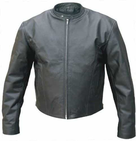 bedinhome - AL2080 Men's Fashion Motorcycle Premium Biker Zip Out Liner Jacket With Euro Collar - All State Leather - Men's Leather Jacket