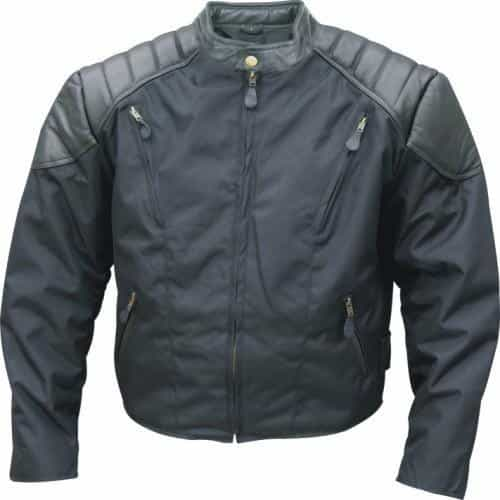 bedinhome - AL2090 Men's Fashion Cordura Vented Heavy Duty Padded Leather Jacket With Zip Out Lining Side Snaps - All State Leather - Men's Cordura Jacket