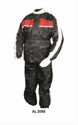 bedinhome - AL2098 Men'S Red & Black Rain Suit 3/4 length Jacket with Matching Elastic Trouser - All State Leather - Men's Rain Gear Jacket