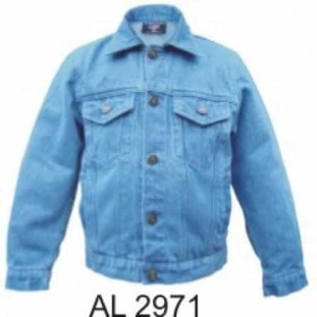 bedinhome - AL2971 Kid's Fashion Motorcycle Full Sleeve Blue 14 oz. Denim Jacket With Two Front Pockets - All State Leather - Kid's Denim Jacket
