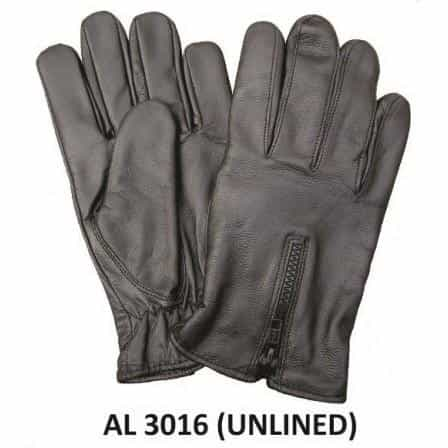 bedinhome - AL3016 Men's Boys Fashion Motorcycle Leather Unlined Driving gloves With Zippered Back - All State Leather - Men's Leather Gloves