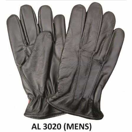bedinhome - AL3020 Men's Boys Fashion Motorcycle Black Leather Lined Driving Gloves With Elastic Wrist - All State Leather - Men's Leather Gloves