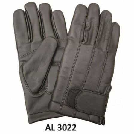 bedinhome - AL3022 Men's Boys Fashion Motorcycle Black Full Finger Lined Gloves - All State Leather - Men's Leather Gloves