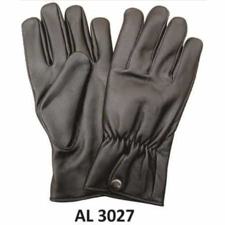 bedinhome - AL3027 Men's Boys Fashion Motorcycle Full Finger Plain Gloves With Elastic Wrist - All State Leather - Men's Leather Gloves