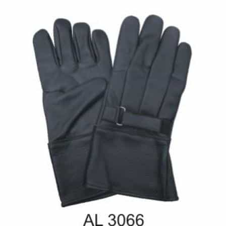 bedinhome - AL3066 Men's Boys Fashion Motorcycle Premium Fleece Lined Soft Lambskin Leather Riding Gloves With Strap - All State Leather - Men's Leather Gloves