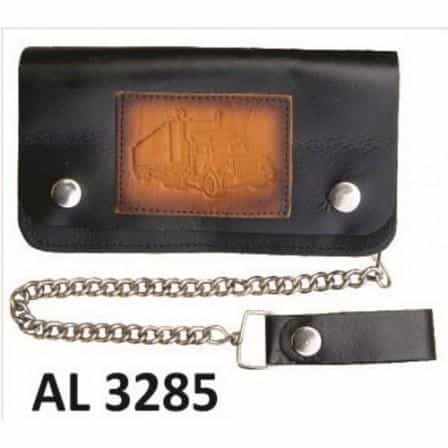 bedinhome - AL3285 Men's Boys Fashion Motorcycle Biker Heavy Duty 6 Inch Chain Wallet With 6 Pockets & Truck Logo - All State Leather - Men's Chain Wallet