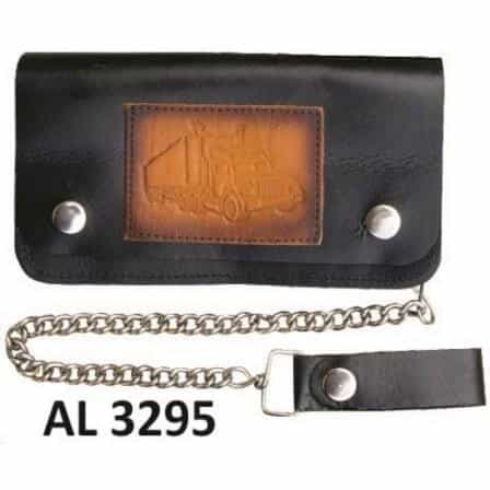 bedinhome - AL3295 Men's Boys Fashion Motorcycle Biker Heavy Duty 8 Inch Chain Wallet With 5 Pockets & Truck Logo - All State Leather - Men's Chain Wallet