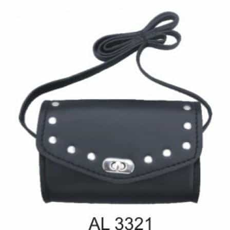 bedinhome - AL3321 Ladies Fashion Motorcycle Heavy Duty Black Studded PVC Shoulder Bag - All State Leather - Ladies Leather Bag