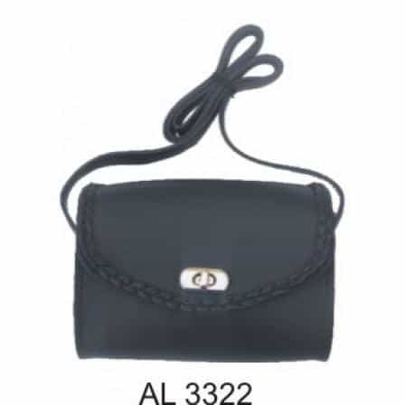 bedinhome - AL3322 Ladies Fashion Motorcycle Heavy Duty Black Braided PVC Shoulder Bag - All State Leather - Ladies Leather Bag