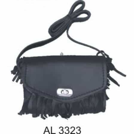 bedinhome - AL3323 Ladies Fashion Motorcycle Heavy Duty Black Fringed PVC Shoulder Bag - All State Leather - Ladies Leather Bag