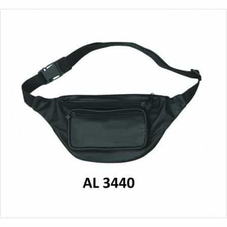 bedinhome - AL3440 Men's Boy Motorcycle Biker Stylish Heavy Duty Plain Leather Belt Bag - All State Leather - Men's Leather Bag