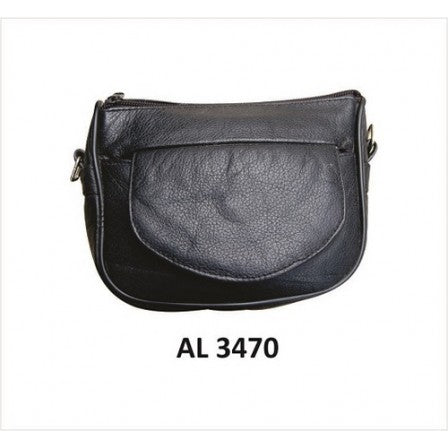bedinhome - AL3470 Ladies Motorcycle Biker Stylish Casual Heavy Duty Leather Shoulder Bag - All State Leather - Ladies Leather Bag