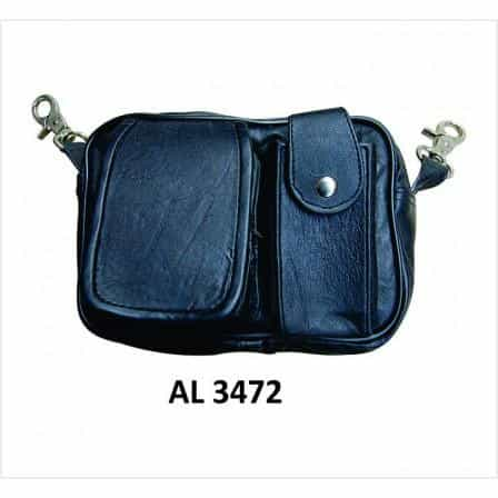 bedinhome - AL3472 Ladies Motorcycle Biker Heavy Duty Leather Cell Phone Pouch Belt Loop Bag - All State Leather - Ladies Leather Bag