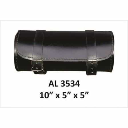 bedinhome - AL3534 Motorcycle Luggage Travel Round Plain Tool Bag in Cowhide Leather - All State Leather - Unisex Leather Bag