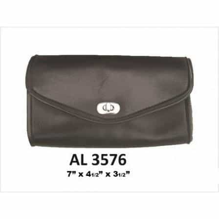 bedinhome - AL3576 Motorcycle Small Luggage Travel Plain Windshield Soft Bag in PVC - All State Leather - Unisex Leather Bag