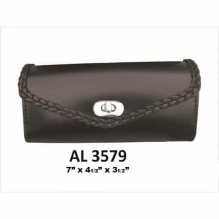 bedinhome - AL3579 Motorcycle Small Luggage Travel Braided Windshield Soft Bag in PVC - All State Leather - Unisex Leather Bag