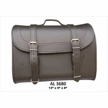 bedinhome - AL3680 Motorcycle Heavy Duty Medium Travel Luggage Plain Soft Leather Bag - All State Leather - Unisex Leather Bag