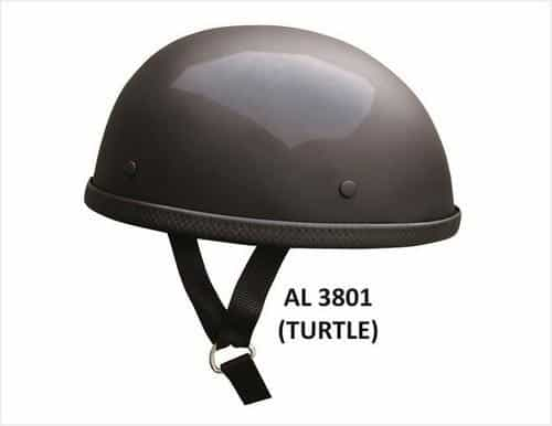 bedinhome - AL3801 Unisex Motorcycle Biker Nature Turtle Glossy Novelty Helmet With Y Straps - All State Leather - Unisex Novelty Helmet