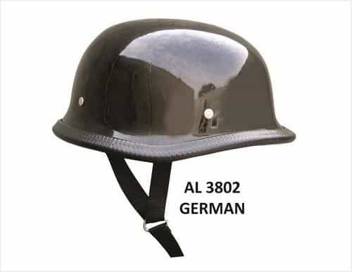 bedinhome - AL3802 Unisex Motorcycle Biker Nature German Glossy Novelty Helmet With Y Straps - All State Leather - Unisex Novelty Helmet