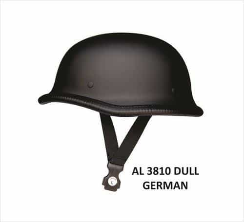 bedinhome - AL3810 Unisex Motorcycle Biker Nature German Dull Novelty Helmet With Y Straps - All State Leather - Unisex Novelty Helmet