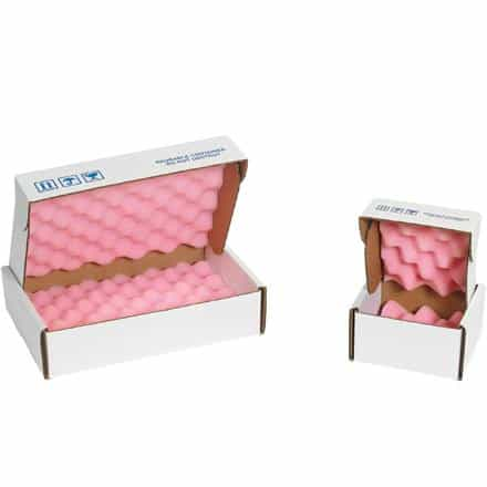 bedinhome - White Anti-Static Protection Convoluted Pink Foam Corrugated Shippers - UNBRANDED - Anti-Static Foam Shippers