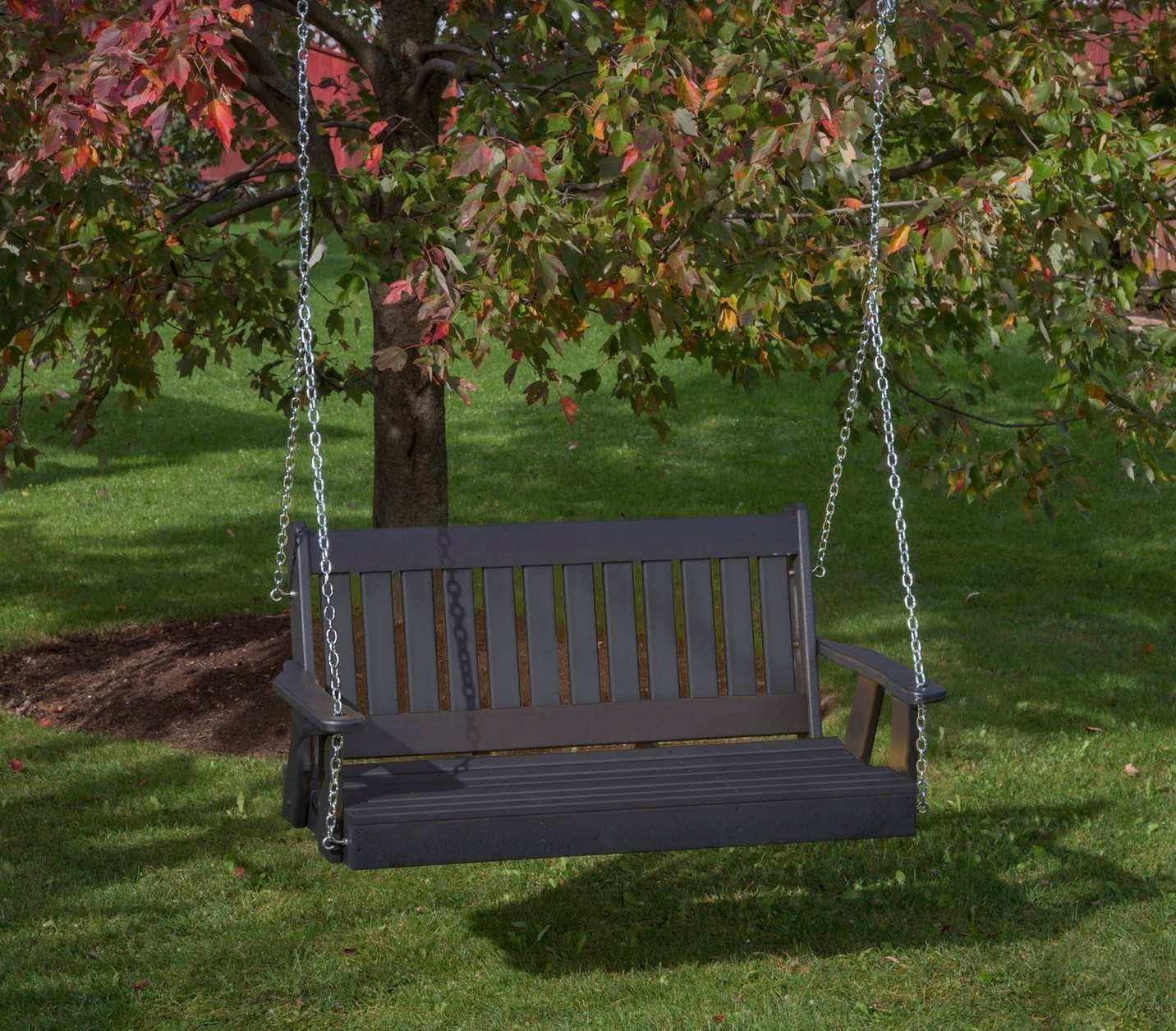 Mission Poly Lumber Amish Crafted PolyTuf HDPE Heavy Duty Porch Swing