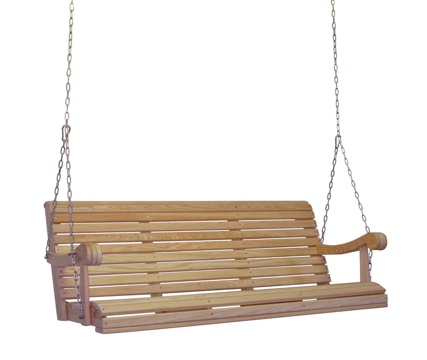 HershyWay Outdoor Cypress Lumber Grandpa Porch Swing With Stainless Steel