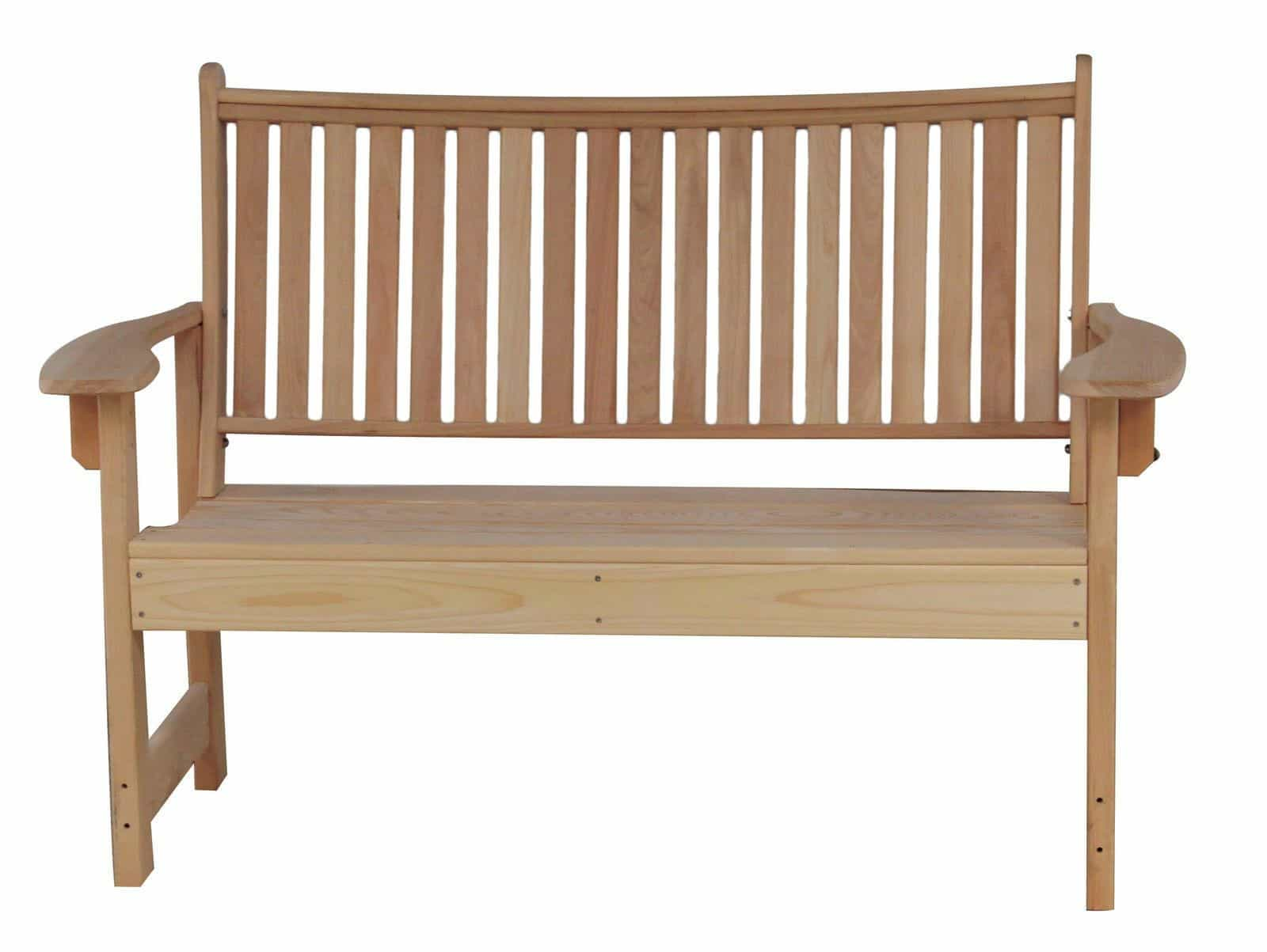 HershyWay Cottage / Country Cypress Royal Garden Curved Back Bench