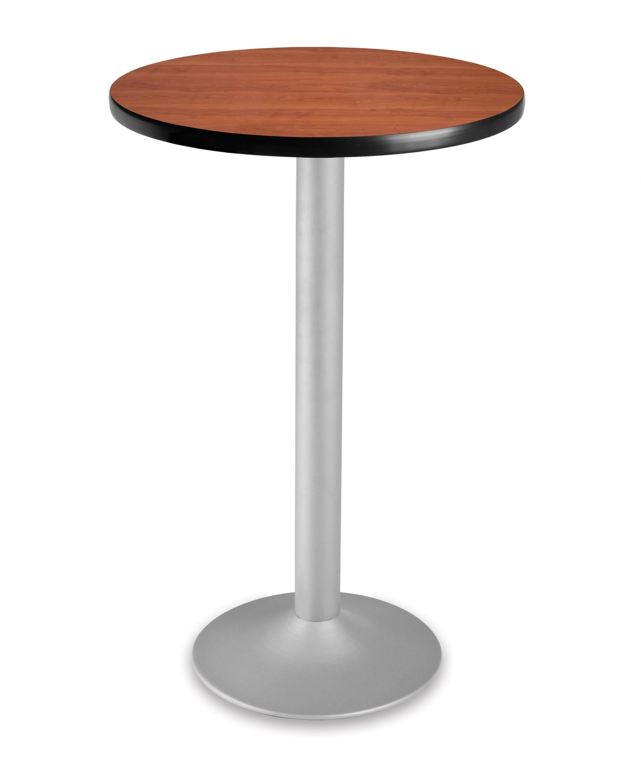 CFT24RD Round Cafe Height Folding Table with Pedestal Base 24 Inch
