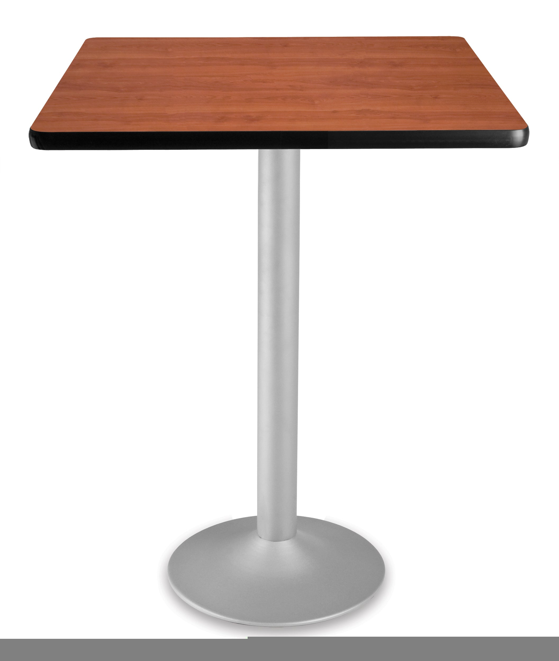 CFT30SQ Square Cafe Height Folding Table with Pedestal Base 30 Inch