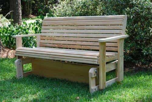 bedinhome - Outdoor Furniture Rot-Resistant Louisiana Cypress Wood Roll Glider Made in USA - LA Swing - Outdoor Gliders