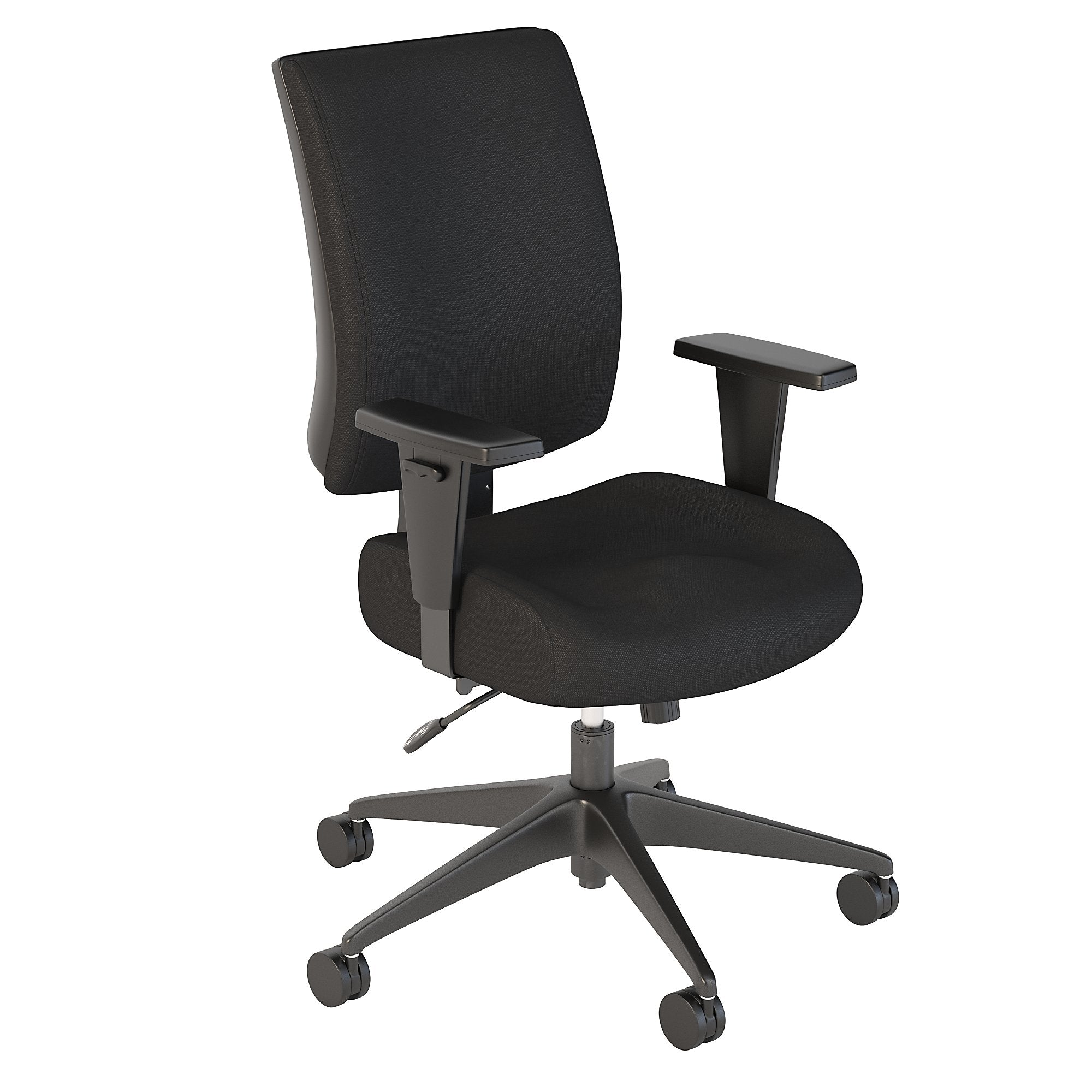 Bush Business Furniture Black Fabric Accord Mid Back Multifunction Office Chair
