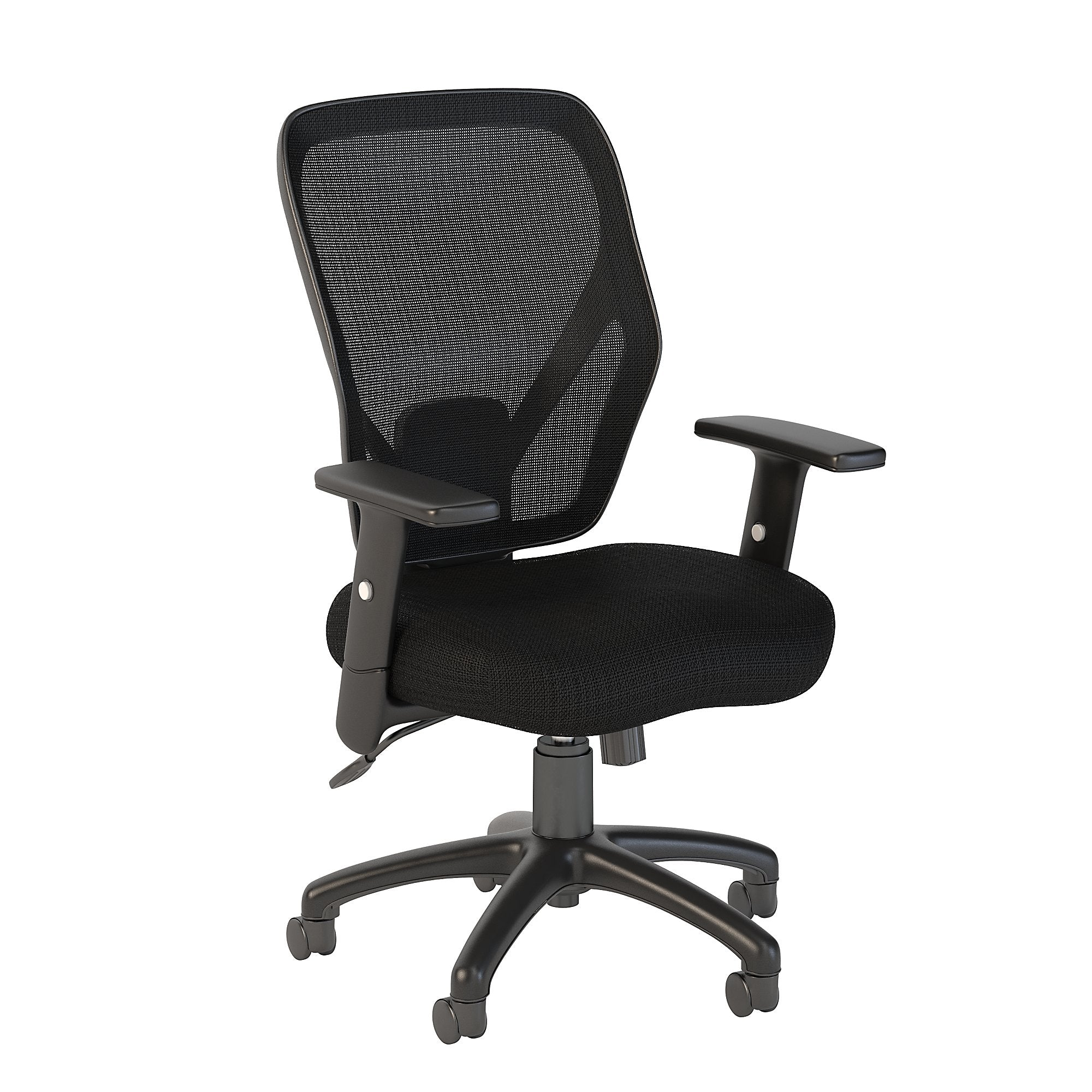 Bush Business Furniture Black Fabric Accord Mesh Back Office Chair