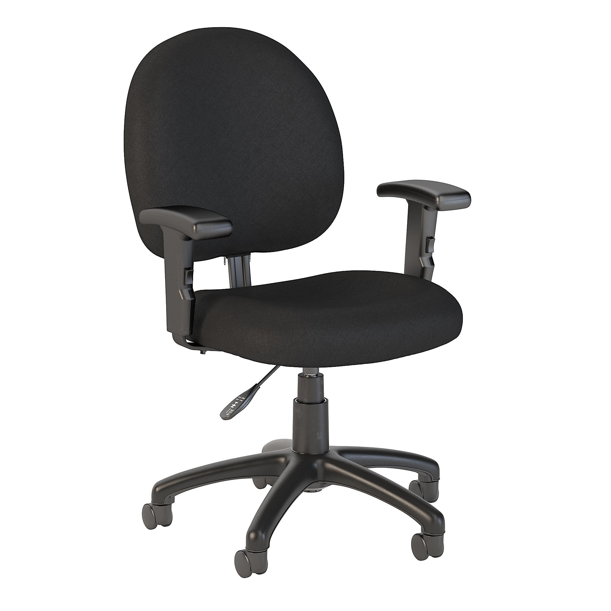 Bush Business Furniture Black Fabric Accord Task Chair with Arms