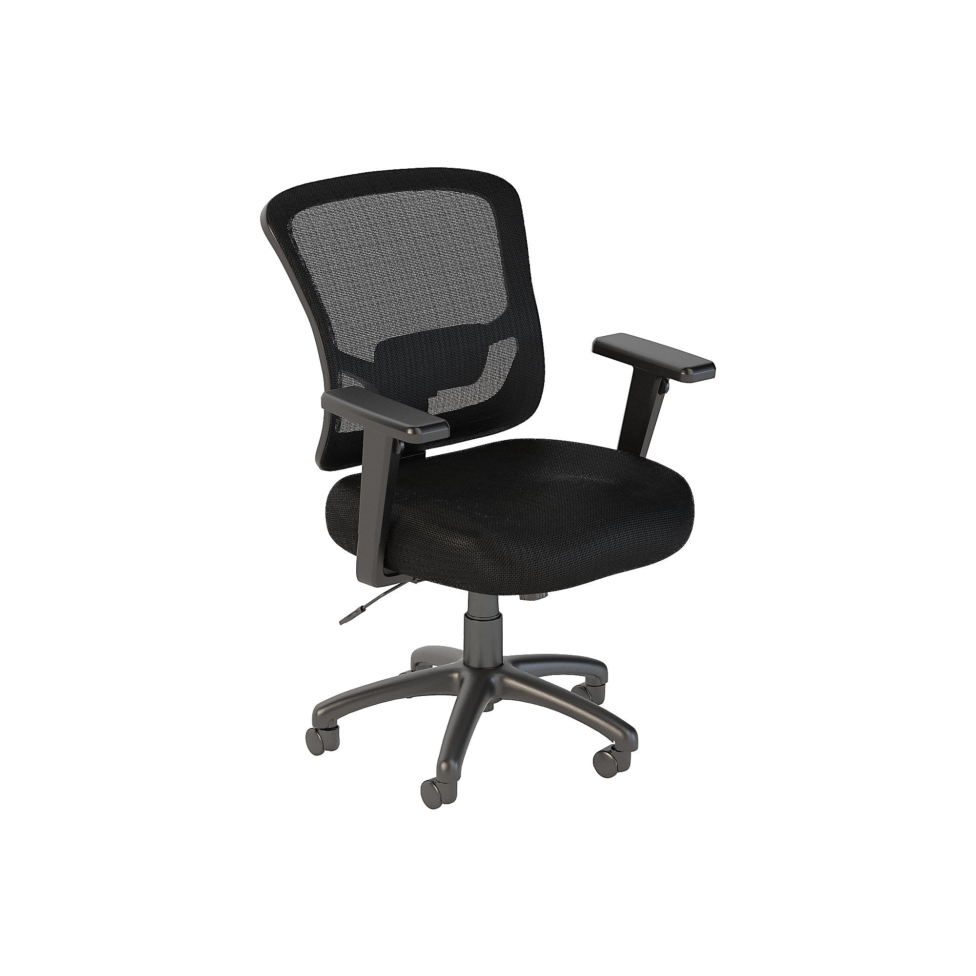CH1306BLF-03 Bush Business Furniture Custom Comfort Mid Back Black Nylon Mesh Executive Office Chair