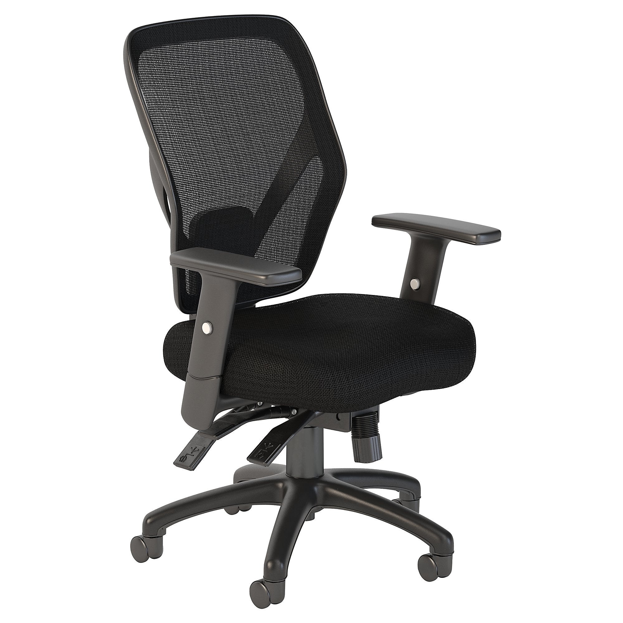 CH1401BLF-03 Bush Business Furniture Corporate Mid Back Multifunction Black Nylon Mesh Office Chair