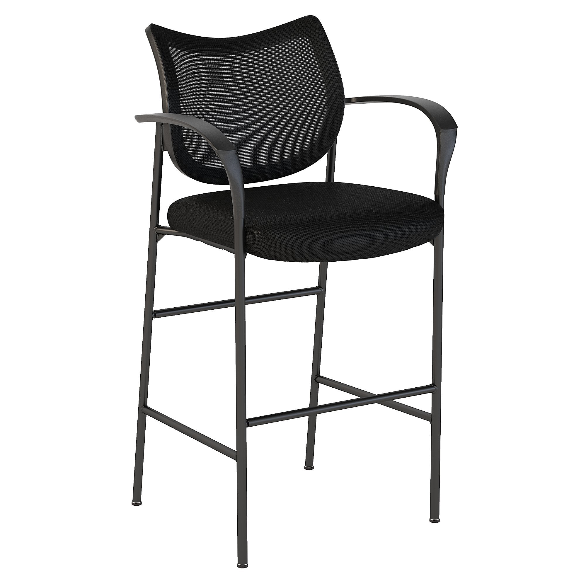CH1403BLF-03 Bush Business Furniture Corporate Black Nylon Mesh Back Standing Desk Stool