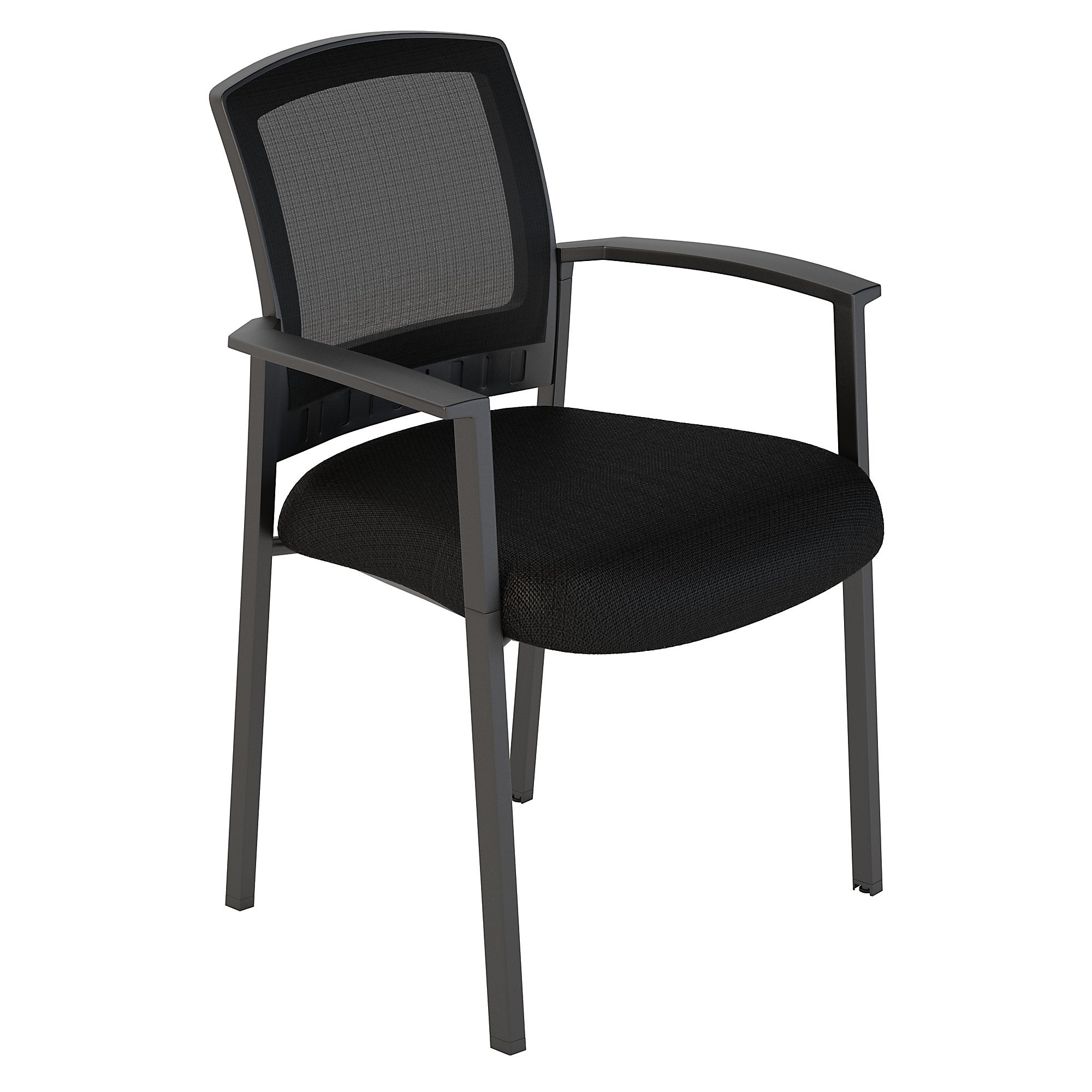 CH1404BLF-03 Bush Business Furniture Corporate Black Nylon Mesh Back Guest Chairs Set of 2