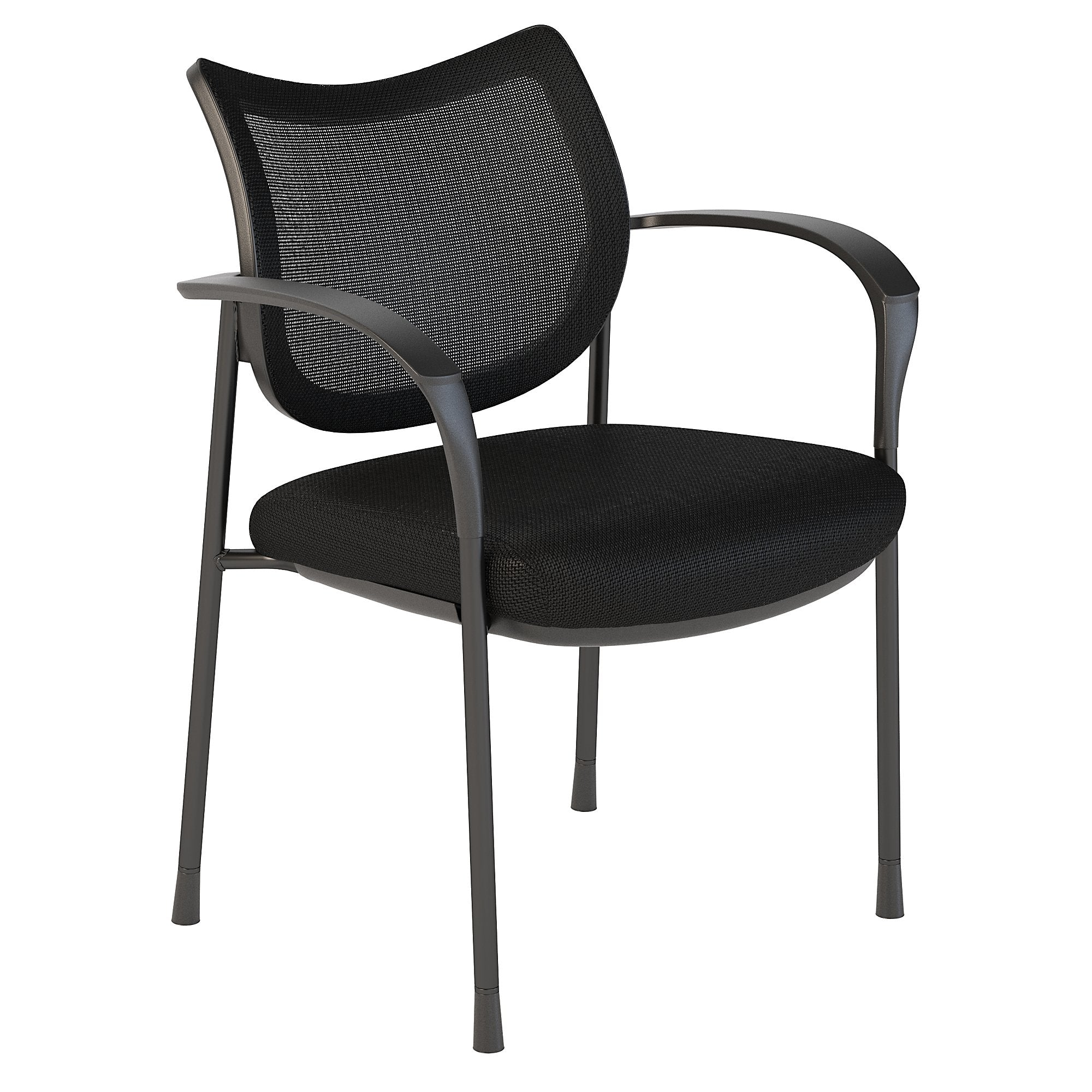 CH1405BLF-03 Bush Business Furniture Corporate Black Nylon Mesh Back Guest Chair