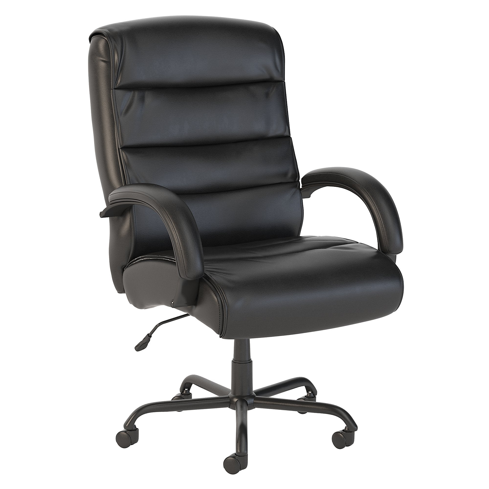 CH1503BLL-03 Bush Business Furniture Soft Sense Big and Tall High Back Black Leather Executive Office Chair